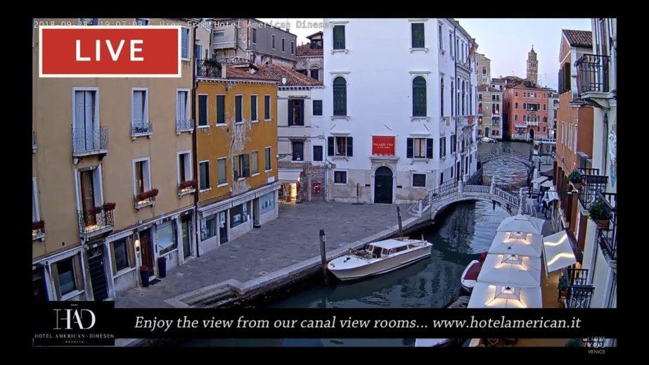 Venice Italy Live cam, Hotel American Dinesen