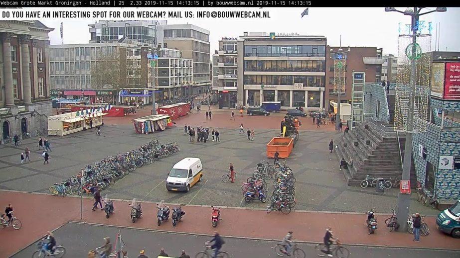 Live Cam Grote Markt, Groningen Netherlands 1
