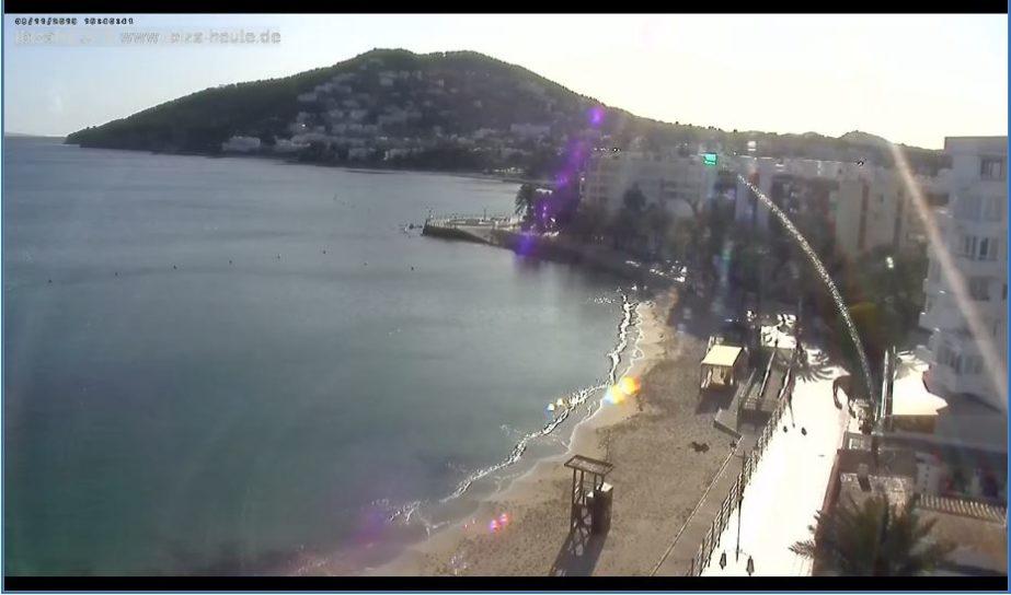 Santa Eulària des Riu, Beach Live Cam – Ibiza, Spain 🇪🇸