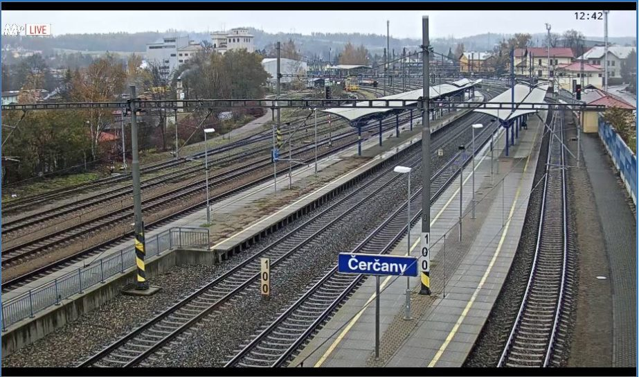 Live Cam Czech Republic, Čerčany Train Station 3