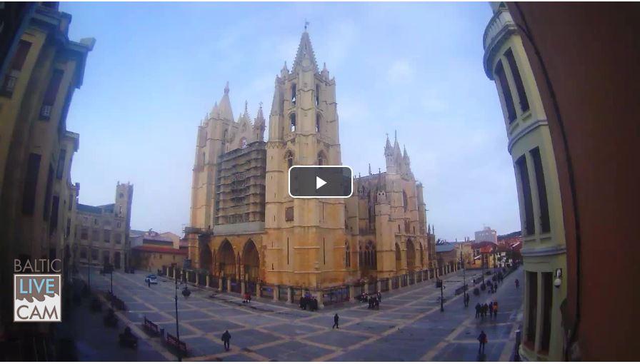 Live Cam Spain, Cathedral in León (Santa María de León Cathedral) 11