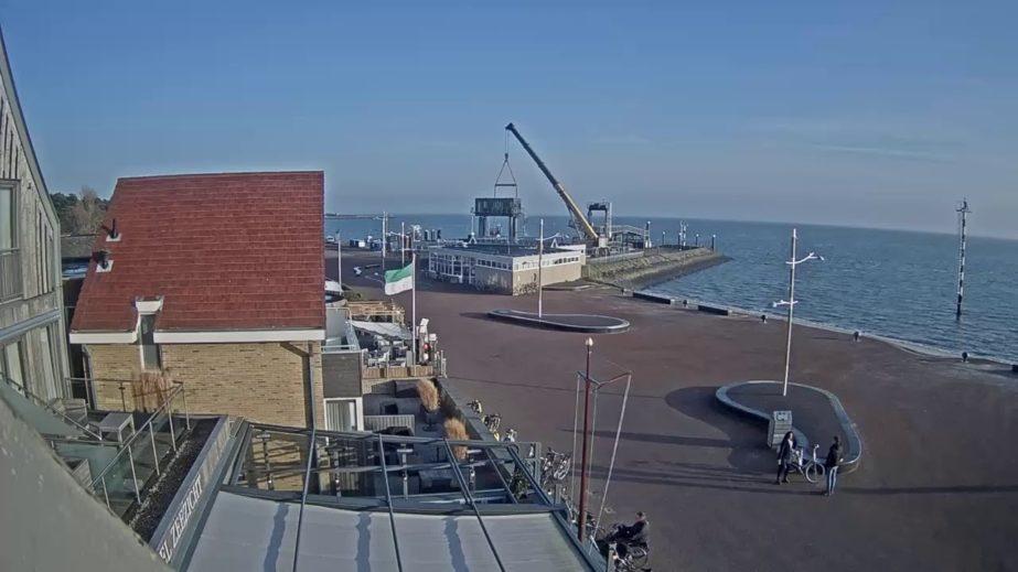 Live Cam Netherlands, Hotel Zeezicht Vlieland, Ferry Port Webcam 12