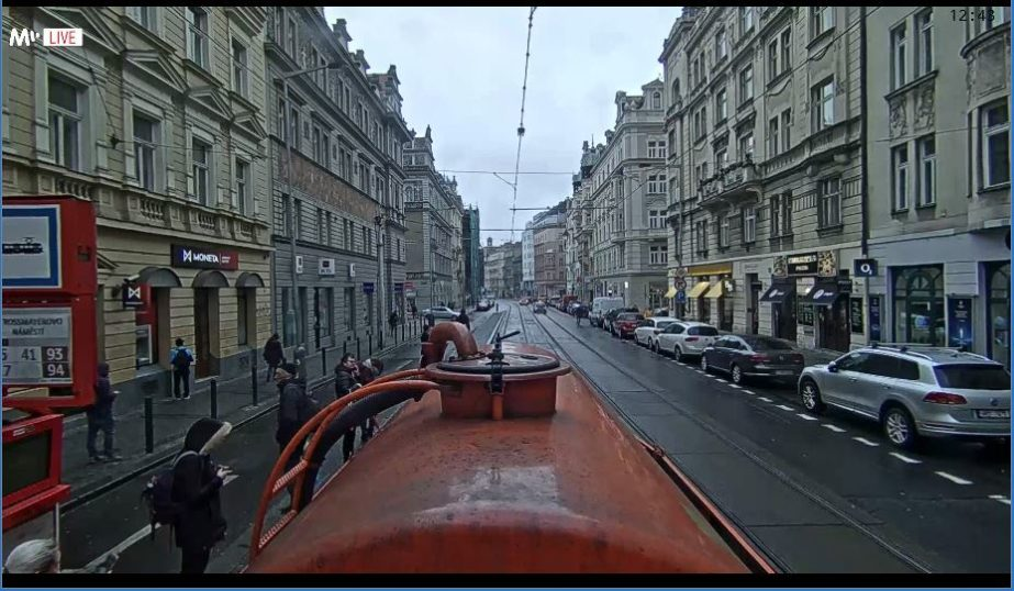 Live Cam Prague, City Tram Ride, Czech Republic 4