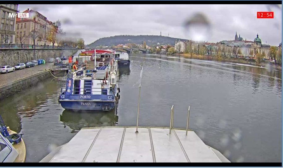 Live Cam Prague Boats, Vltava River cruise, Czech Republic 6
