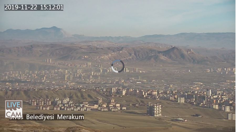 Live Cam Turkey, Sivas City Panorama 4