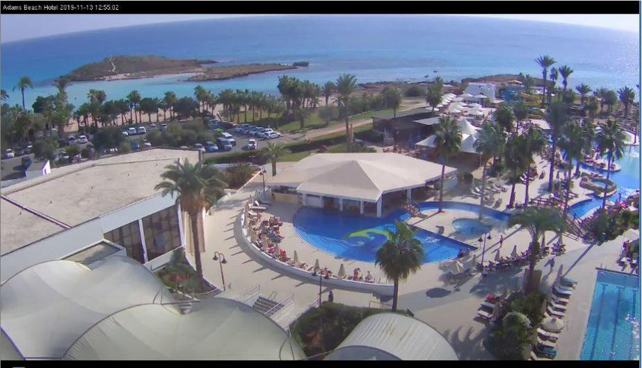 Live Cam Cyprus, Adams Beach Hotel Cam 2, Ayia Napa 1