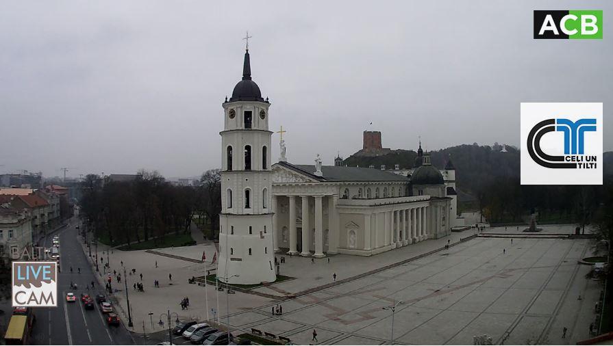 Live Cam Lithuania, Vilnius Cathedral Square 2