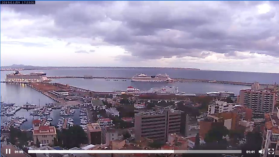 Live Cam Palma, Port Cruise Ships, Spain