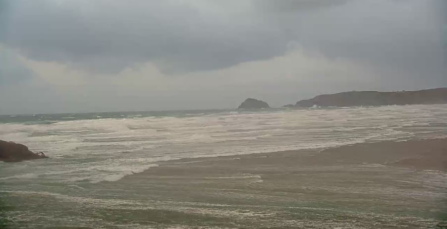 Live Cam Cornwall, Perranporth Beach Surf webcam 16