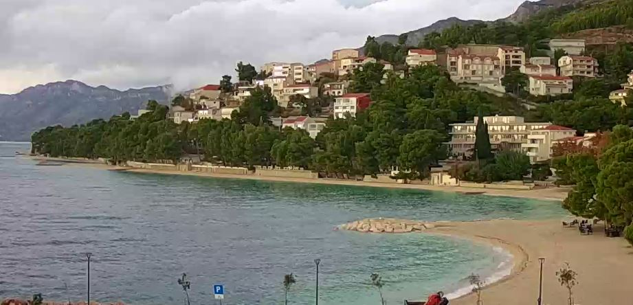 Live Cam Croatia, Podluka Beach Baska Voda