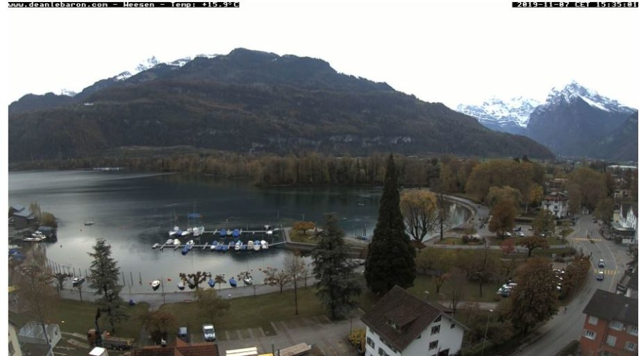 Live Cam Switzerland, Walensee Lake, Weesen 2