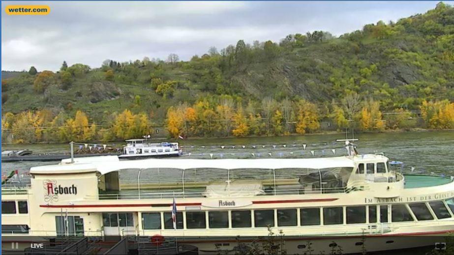 Live Cam Germany, BoppardRiver Rhine Gorge Webcam