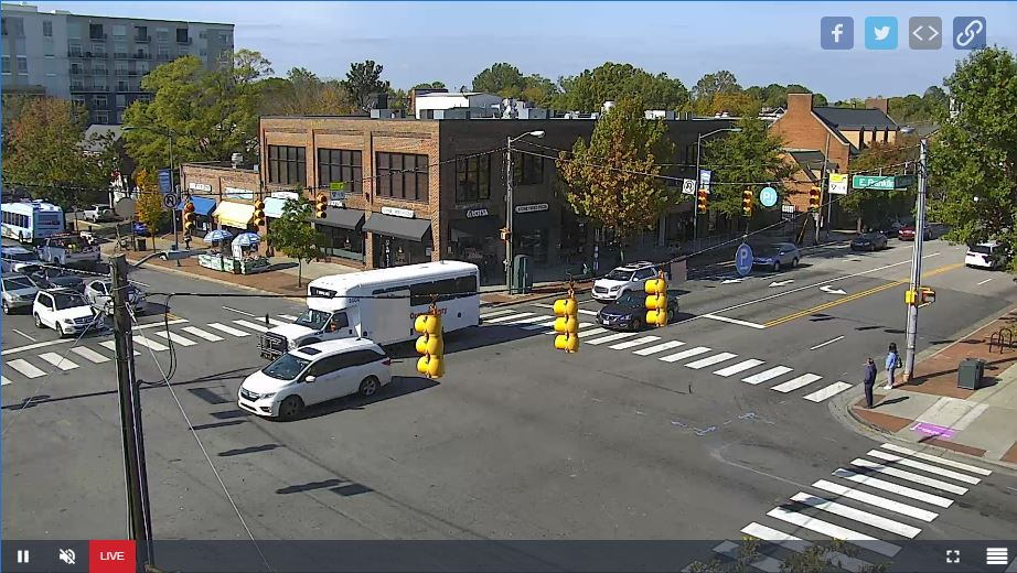 Live Cam USA, Downtown Chapel Hill, North Carolina NC 14
