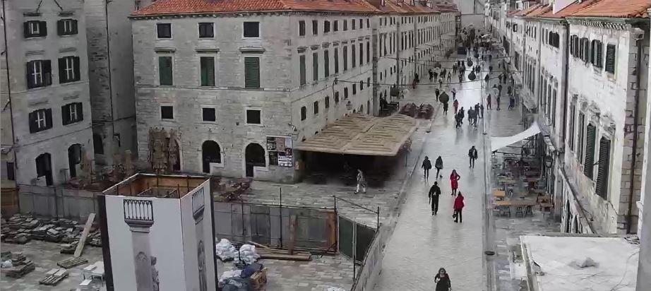 Live Cam Croatia, Dubrovnic Main Street Stradun 9