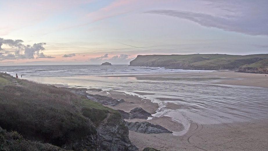 Live Cam Cornwall, Polzeath Beach, England