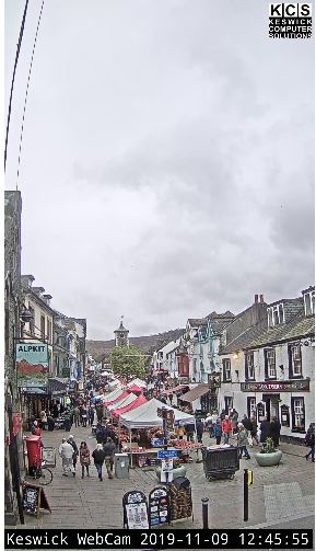 Live Cam Keswick, Highstreet View England's Lake District 19