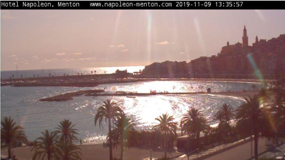 Live Cam France, Menton Bay, French Riviera Côte d'Azur