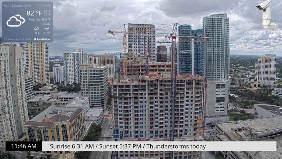 Live Cam USA, Downtown Fort Lauderdale Webcam 7