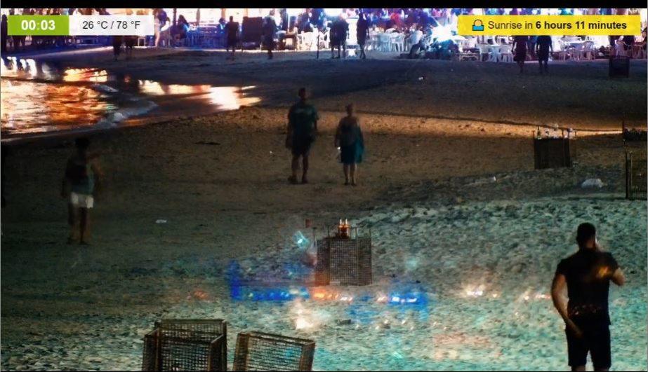 Live Cam Koh Phangan, Hat Rin Beach, Thailand