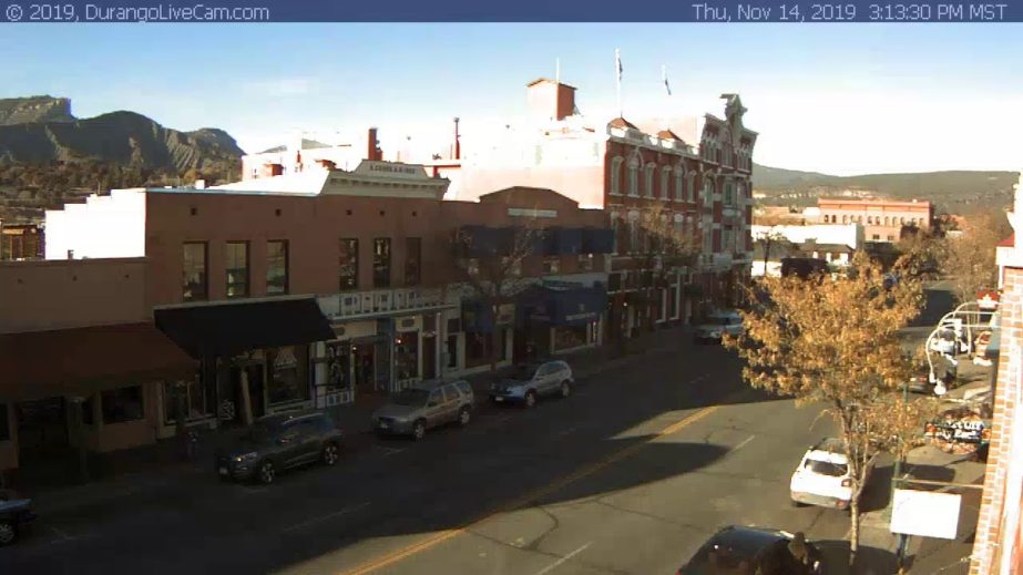 Live Cam Durango, Main Ave, Colorado USA 3