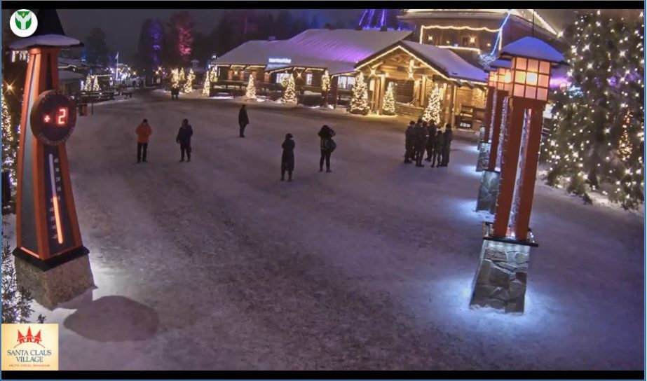Live Cam Santa Claus Village, Lapland, Finland