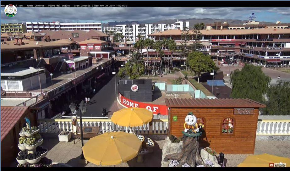Live Cam Gran Canaria, Yumbo Centre, Maspalomas, Spain 2
