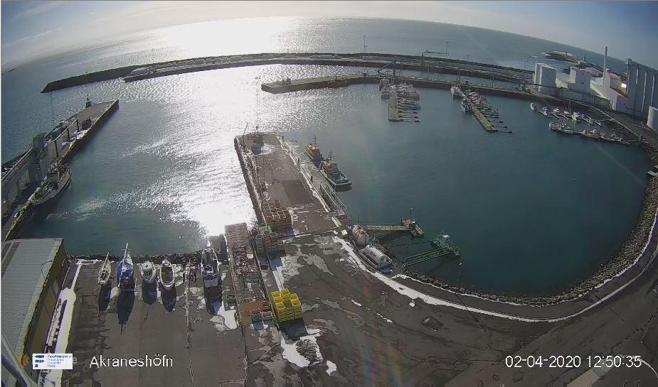 akranes port live cam
