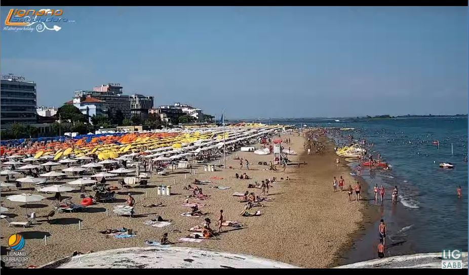 Lignano Sabbiadoro Beach Live Cam