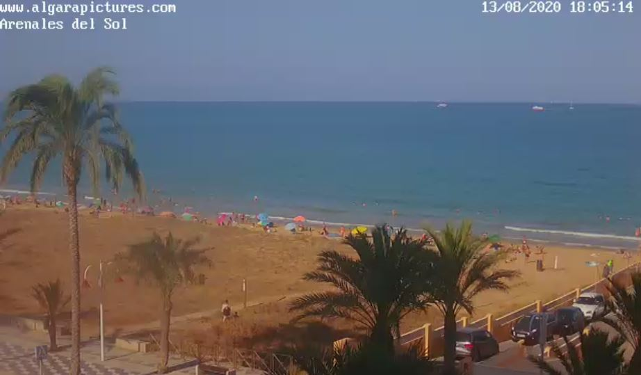 Arenales del Sol Beach Live Webcam