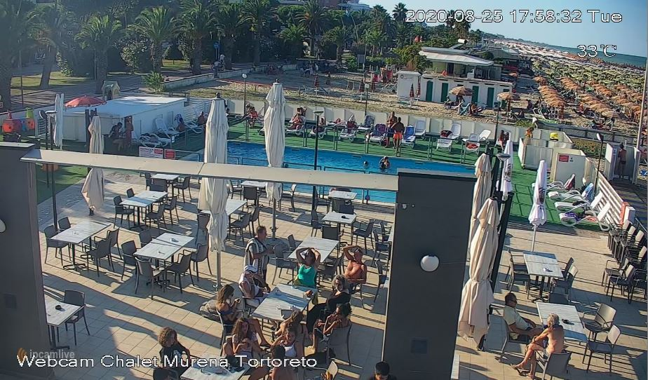 Tortoreto Lido Beach Live Webcam HD