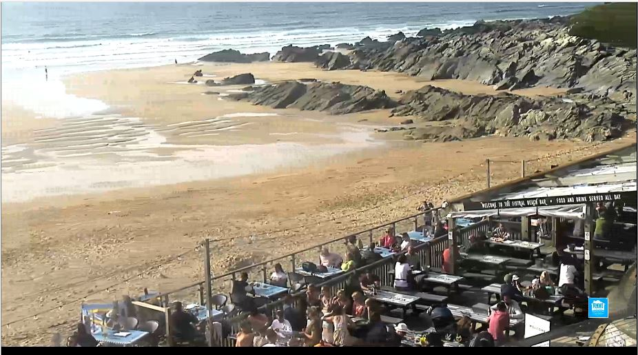 Fistral Beach Live Webcam