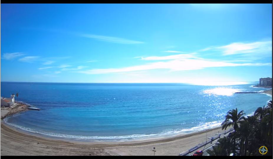 Amazing HD Live Webcam Playa de Los Locos, Torrevieja, Spain